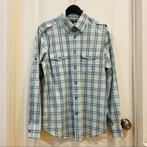 """Express Fitted Button-down Shirt Size L 16-16 1/2"""""""